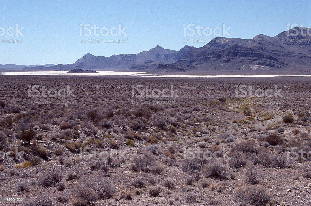 Salt Flats Confusion Range Millard County Black Rock Desert Utah stock photo