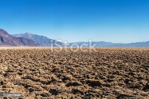 Salt Flats desert in the Death Valley National Park, summer, California.