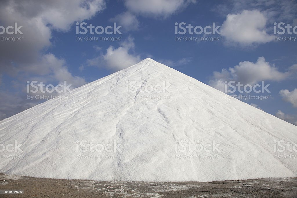salt from sea royalty-free stock photo