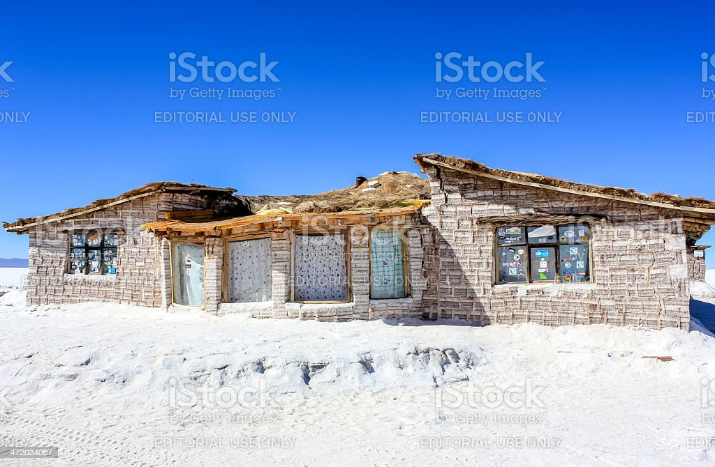 Salt Hotel In Salar de Uyuni stock photo