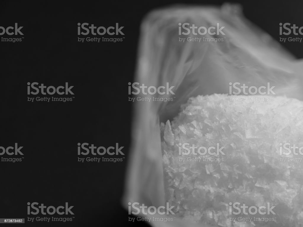 Salt in black and white stock photo