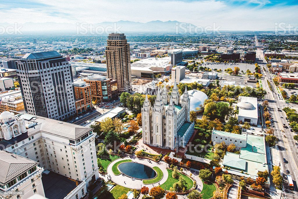 Salt Lake City Aerial View stock photo