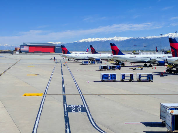 salt lake city airport - spring stock photos and pictures
