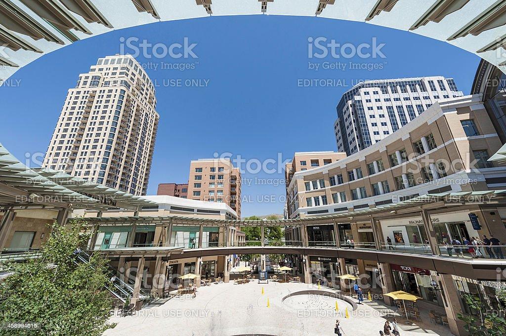 Salt Lake City Creek mall plaza, Utah – Foto