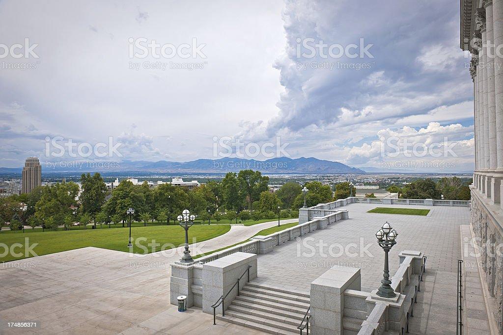 Salt Lake City from Utah State Capitol USA royalty-free stock photo