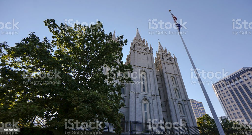 Salt Lake City Lds Mormon Temple Stock Photo & More Pictures of