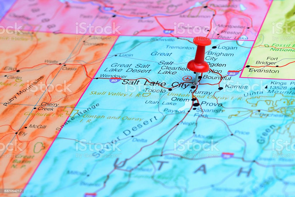 Salt Lake City Pinned On A Map Of Usa Stock Photo & More ... Salt Lake City Map Of Usa on ohio river map of usa, mount elbert map of usa, laramie map of usa, yosemite national park map of usa, interstate 80 map of usa, florida map of usa, alaska map of usa, hot springs map of usa, hurricane map of usa, yuma map of usa, grand canyon map of usa, rhode island map of usa, savannah map of usa, bar harbor map of usa, hawaii map of usa,