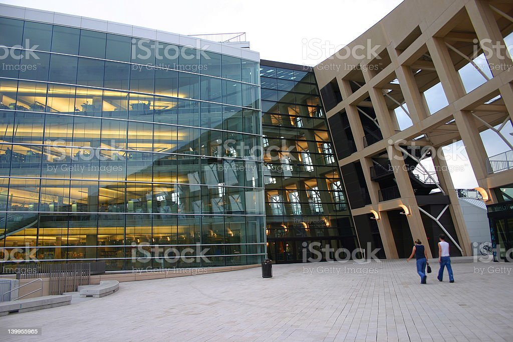 Salt Lake City Public Library royalty-free stock photo