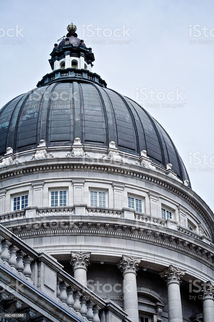 Salt Lake City State Capital Traditional Neoclassical Dome stock photo