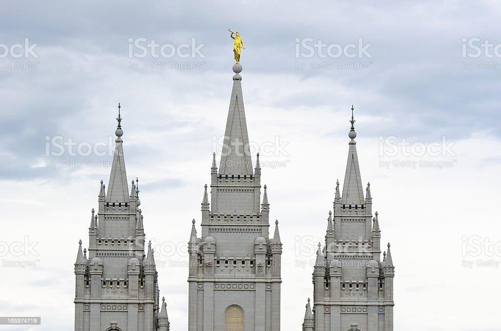 Salt Lake City Temple stock photo