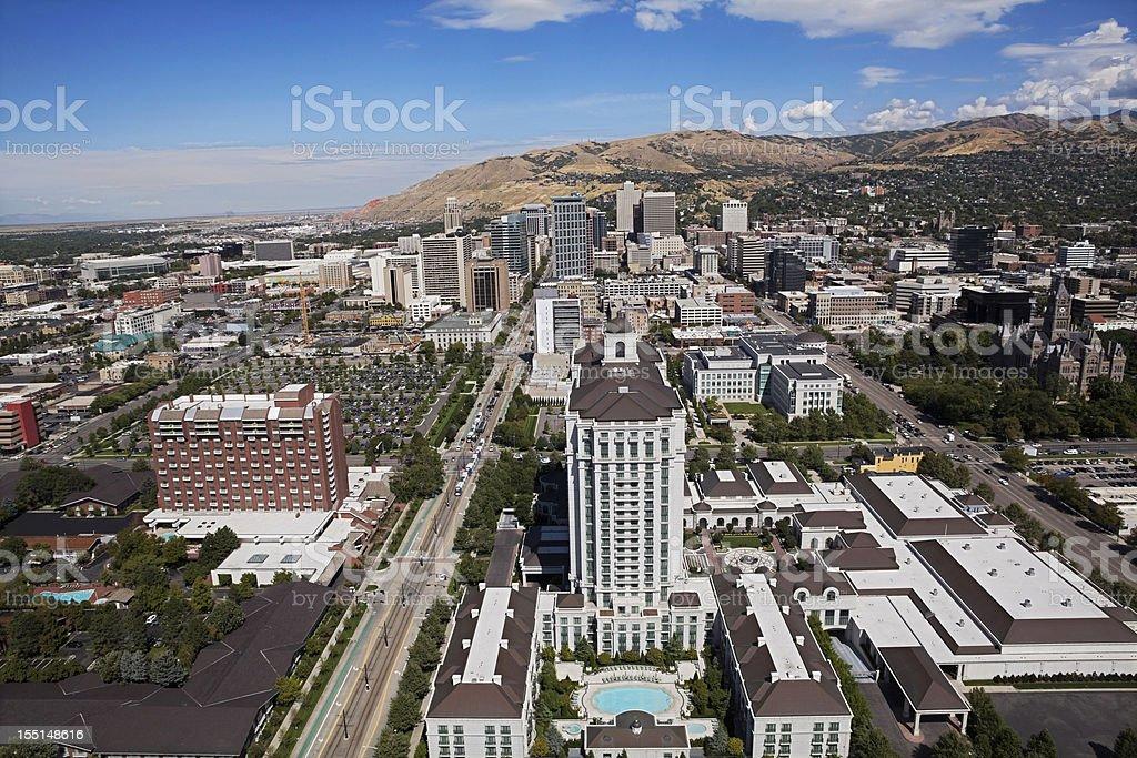 Fotografía de Salt Lake City Utah Aérea De Un Paisaje De La Ciudad y ...