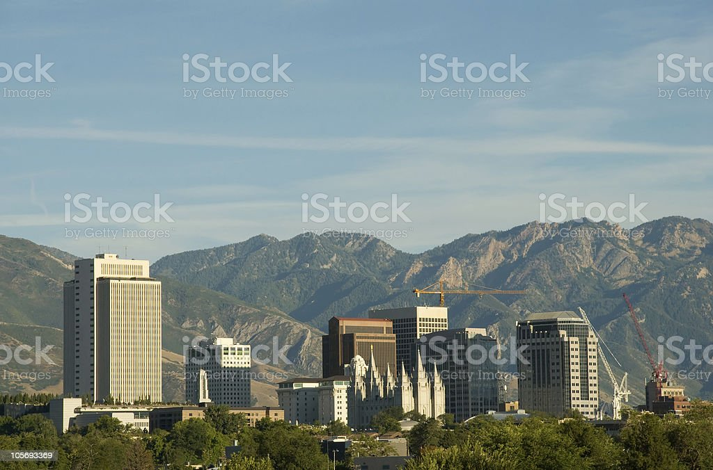 Salt Lake City, Utah Downtown Skyline in the Summertime royalty-free stock photo