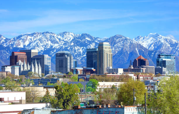 Salt Lake City, Utah Salt Lake City is the capital and the most populous municipality of the U.S. state of Utah rocky mountains north america stock pictures, royalty-free photos & images