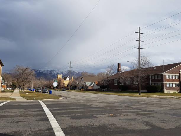 Salt Lake City Utah Streets stock photo