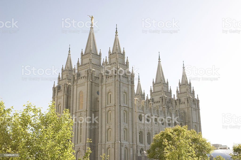 Salt Lake City Utah Temple of the LDS Church (Mormons) royalty-free stock photo