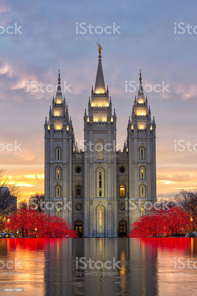 Salt Lake City Utah Temple stock photo