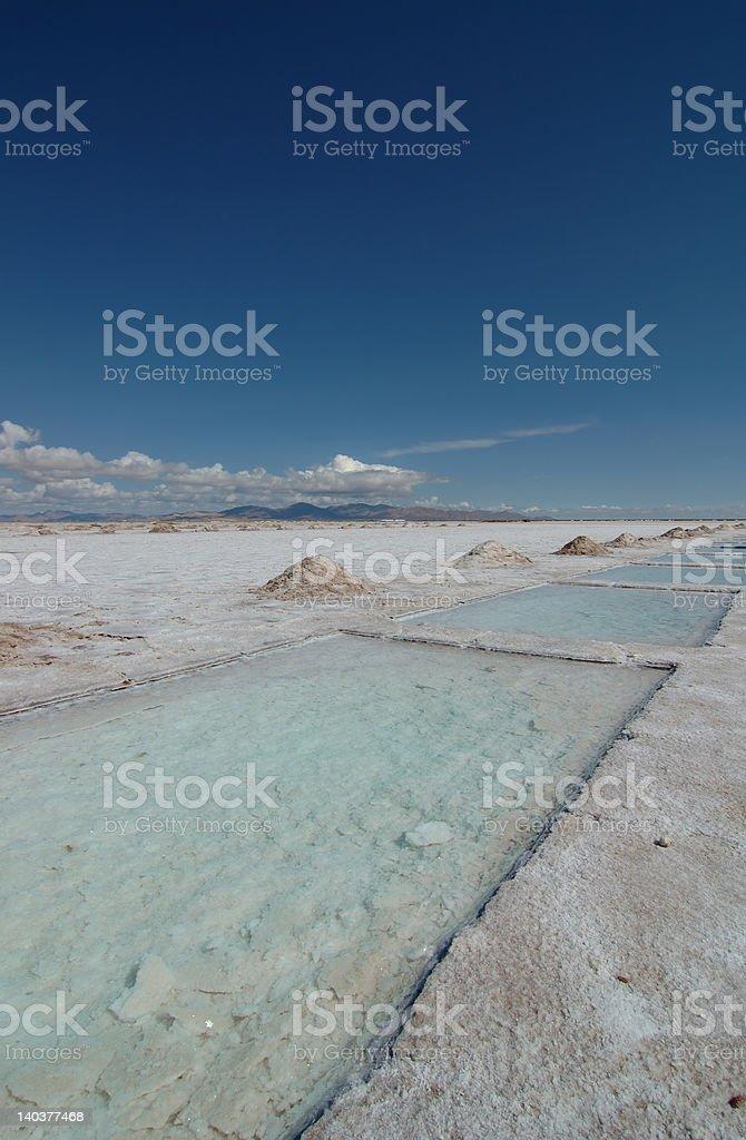 salt lake near Salta, Argentina royalty-free stock photo