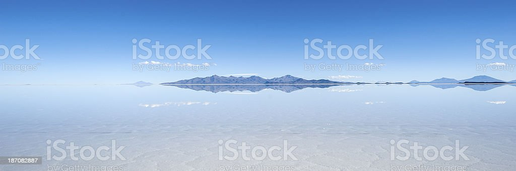 Salt lake Salar de Uyuni in Bolivia stock photo