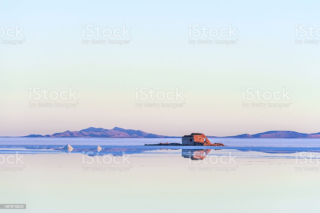 Salt lake - Salar de Uyuni in Bolivia stock photo