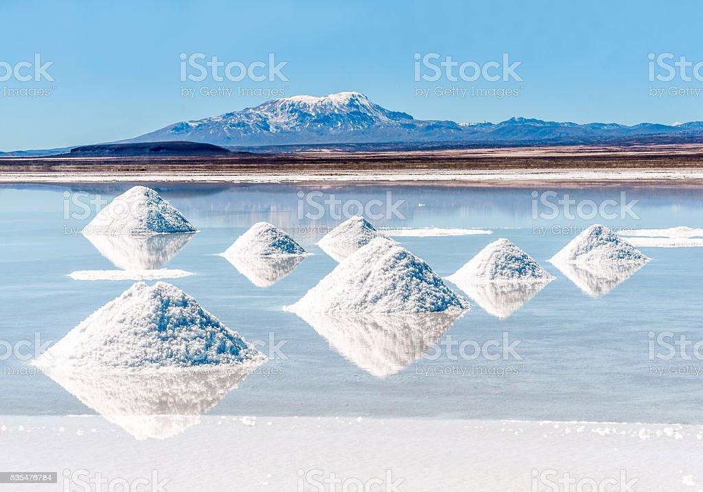 Salt lake - Salar de Uyuni in Bolivia royalty-free stock photo