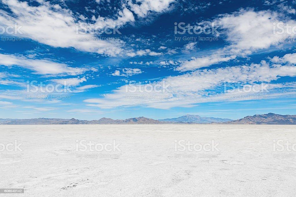 Salt Lake Salt Flats Salt Lake City Utah USA stock photo