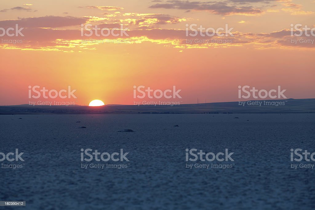 Salt lake sunset royalty-free stock photo