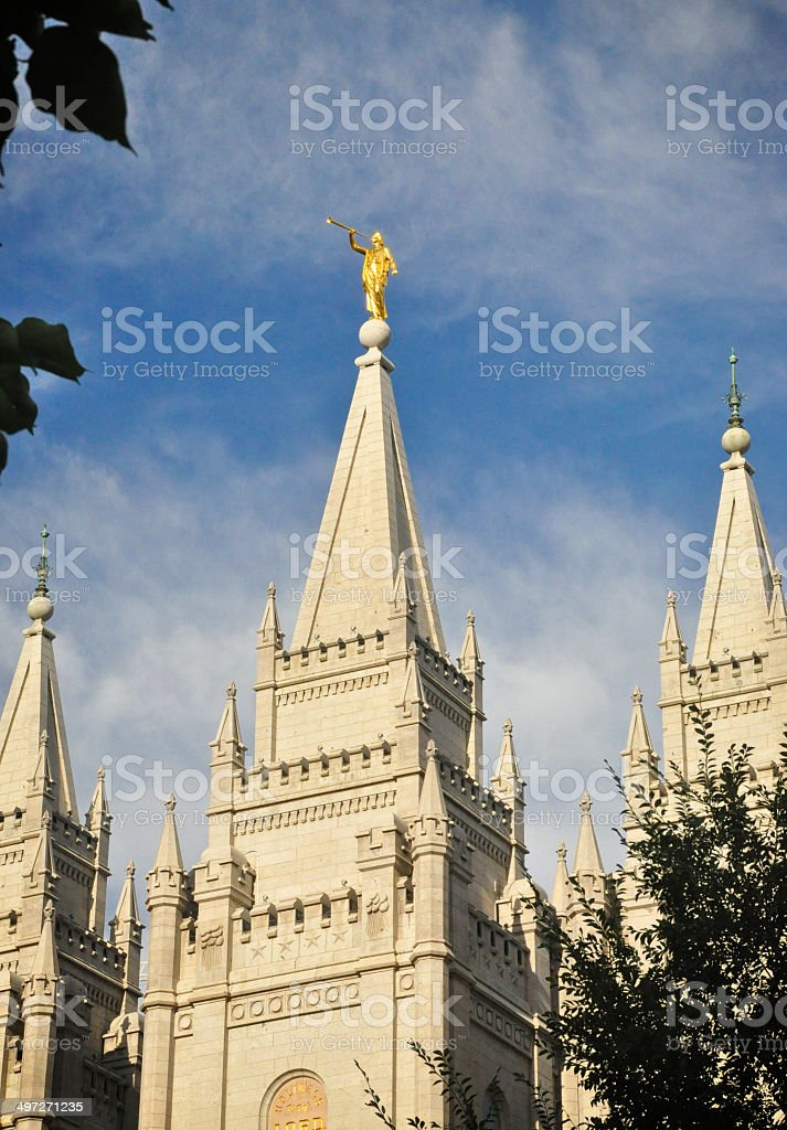 Salt Lake Temple stock photo