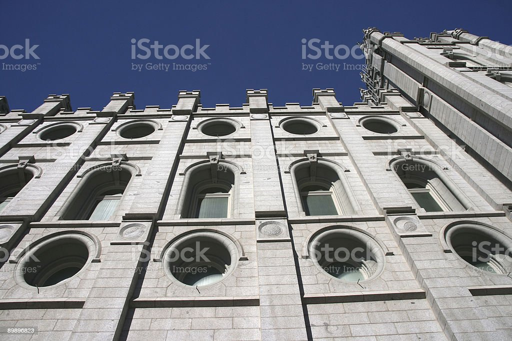 Templo de Salt Lake, sudeste de 2 foto de stock libre de derechos