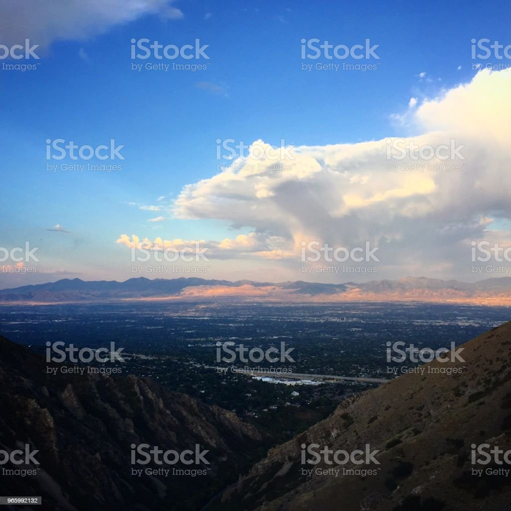 Salt Lake Valley - Royalty-free Berg Stockfoto