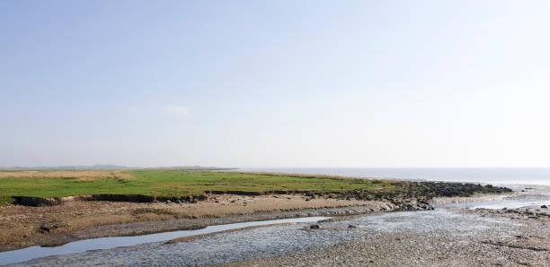 Salt mash landscape stock photo