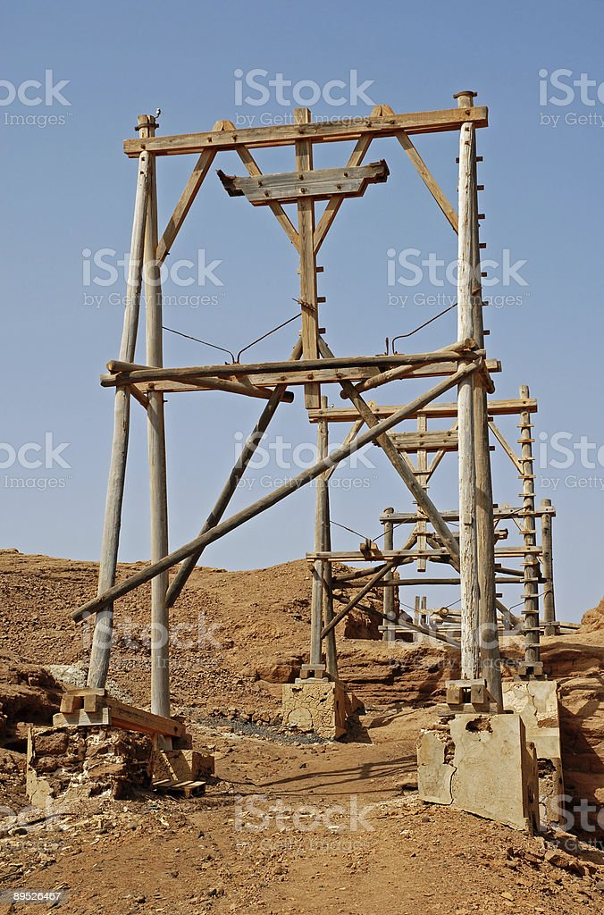 Salt Mine in Cape Verde royalty-free stock photo