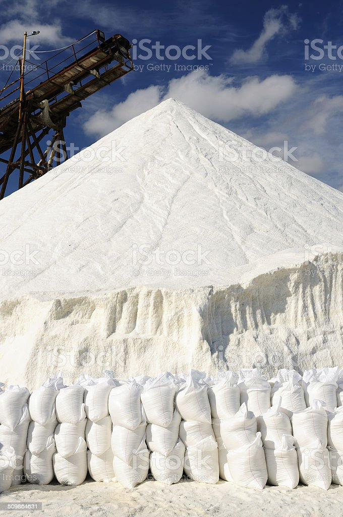 Salt mines in Colombia stock photo