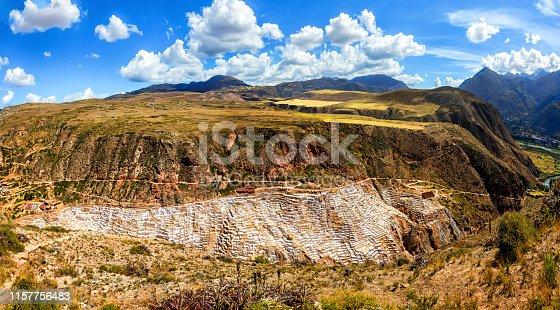 istock Salt Mines in Maras, Sacred Valley, Peru. 1157756483