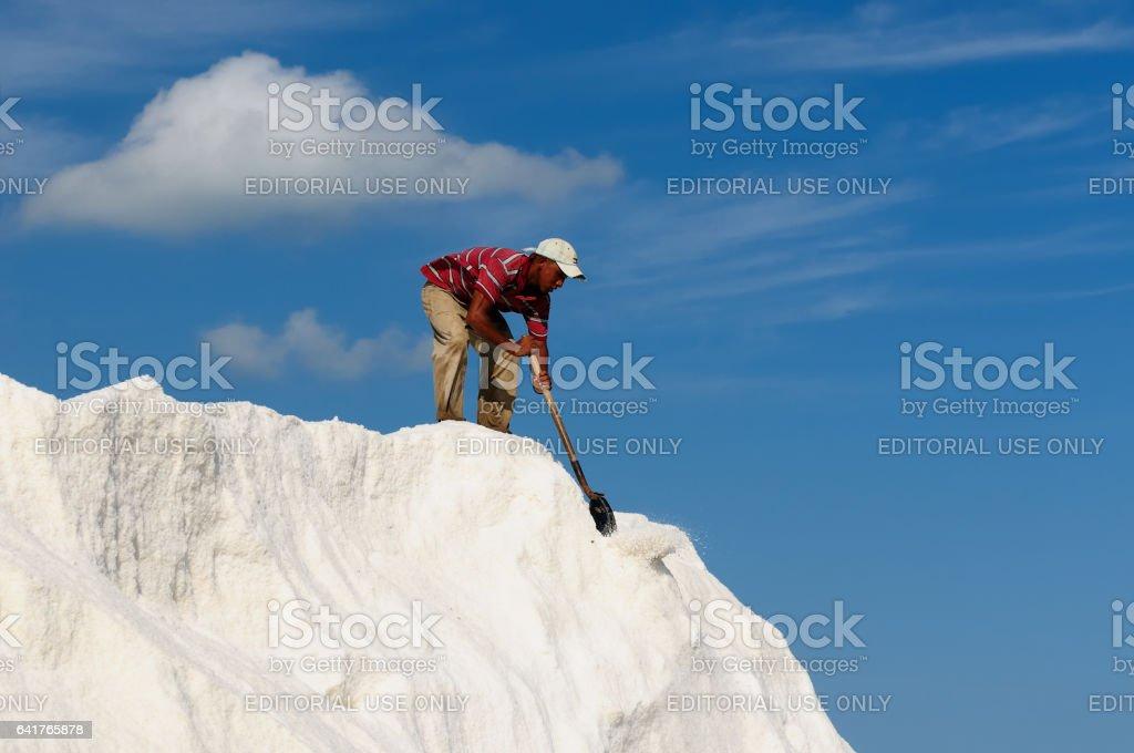 Salt mines on the Penisula la Guajira stock photo