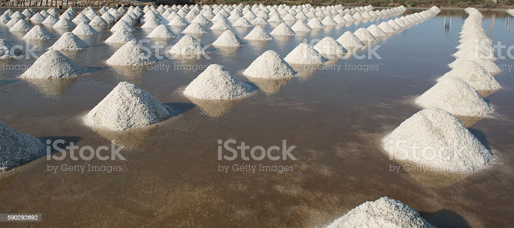 Salt of piles saline in Thailand Стоковые фото Стоковая фотография