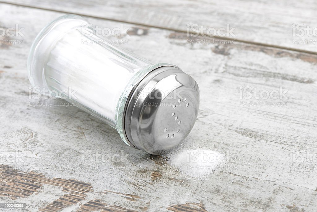 Salt on Table royalty-free stock photo