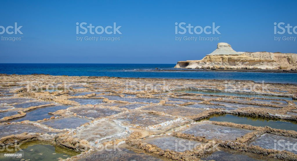 Salt Pans, Gozo stock photo