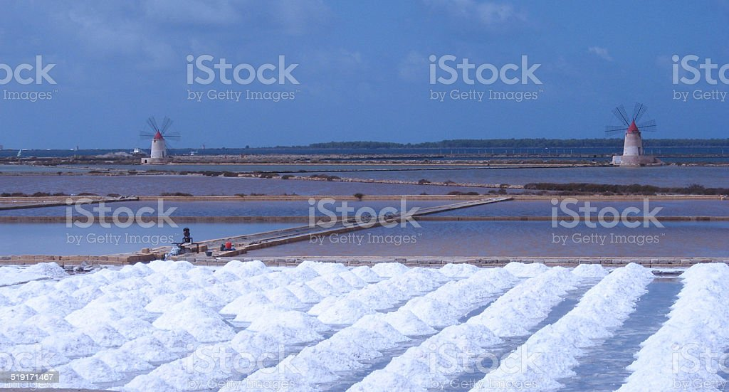 Saline a Mozia stock photo