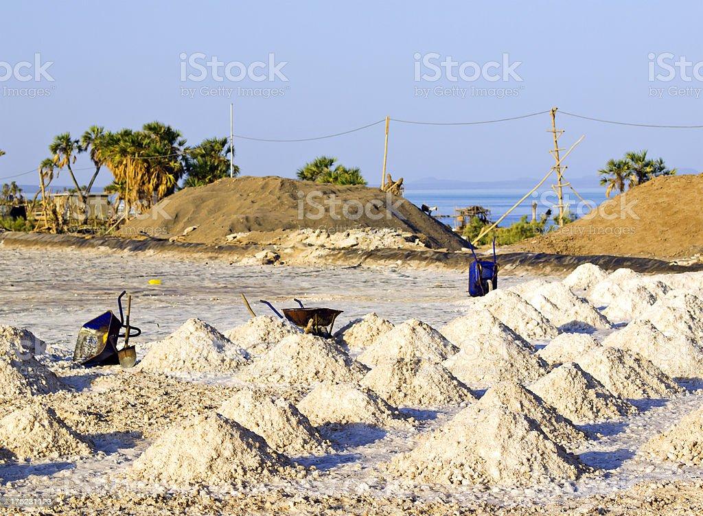 Salt pans stock photo