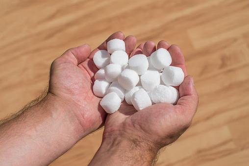 Salt pellets for the water softener