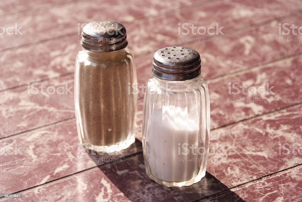 Salt & pepe foto stock royalty-free