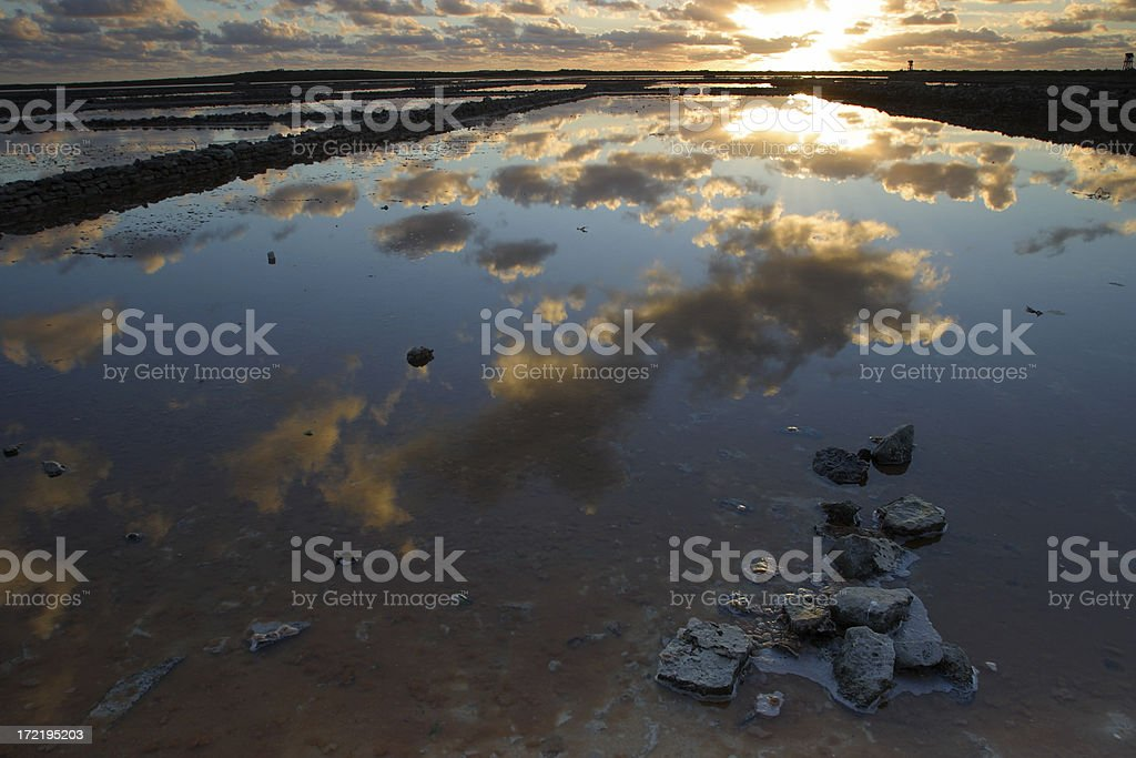 Salt Pond Reflection stock photo