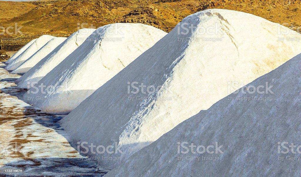 Salt refinery, Saline from Janubio, Lanzarote royalty-free stock photo