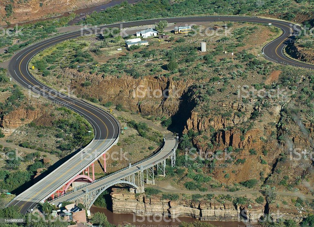 Salt River Canyon Bridge stock photo