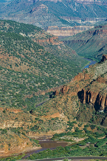 Salt River Canyon stock photo