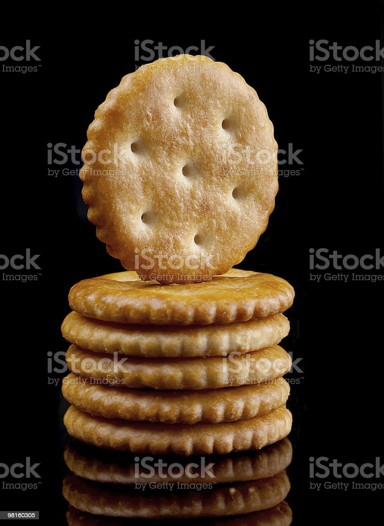 Salt round cracker royalty-free stock photo