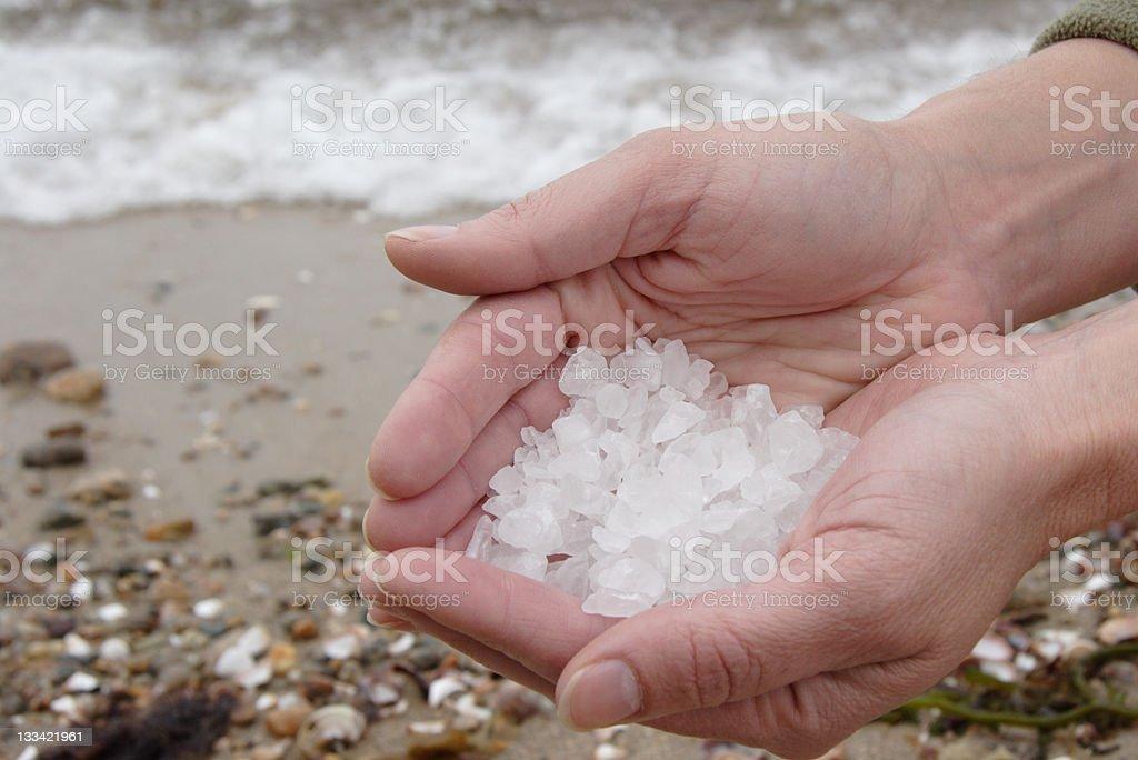 Salt & Sea royalty-free stock photo