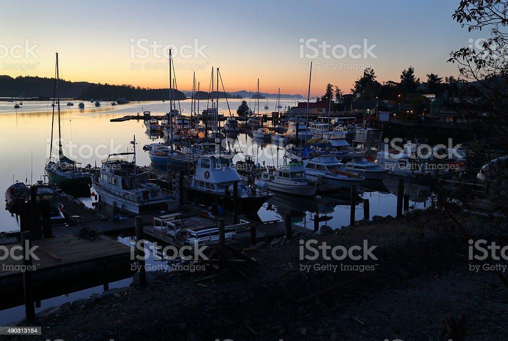 Salt Spring Dawn, British Columbia stock photo
