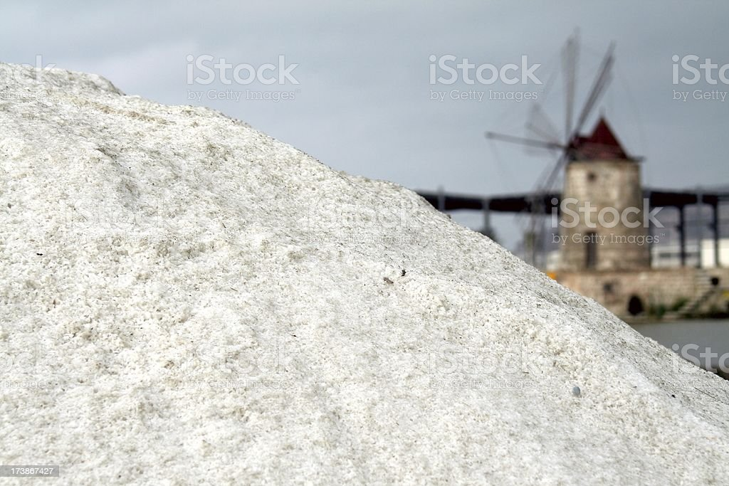 Salt stack royalty-free stock photo