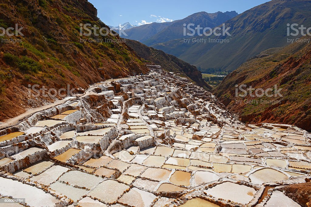 Salt terraces stock photo